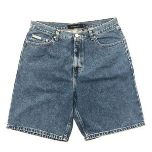 Calvin Klein Double Stone Wash Denim Jean Shorts